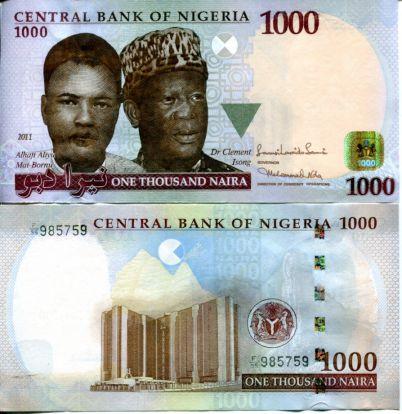 1000 найра Нигерия 2011 год