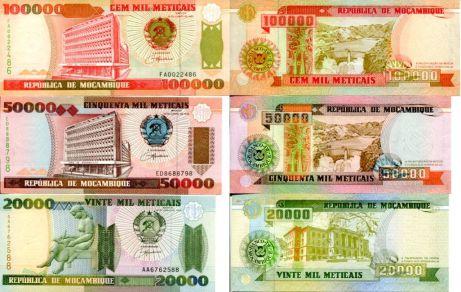 Набор банкнот Мазомбика