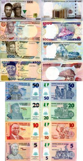 Набор банкнот Нигерии
