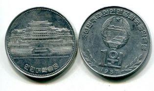 1 вон северная Корея 1987 год