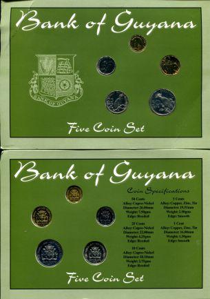 Набор монет Гайаны фауна