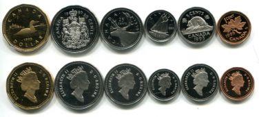 Набор монет Канады 1995 год