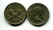 3 пенса Новая Зеландия 1964 год