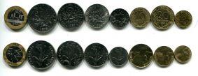 Набор монет Франции регулярный выпуск