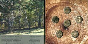 Набор монет Армении в буклете деревья