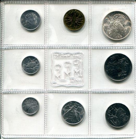 Набор монет Сан-Марино фауна 1974 год