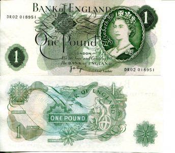 1 фунт Великобритания 70-е