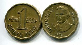 1 новый песо Уругвай 70-е