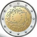 2 евро 30 лет флагу Франция 2015 год