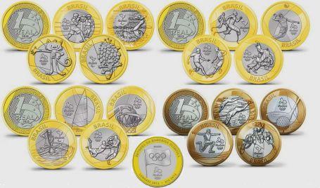 Набор монет Бразилии 2016 выпуск 4 Олимпиада
