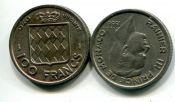 100 франков Принц Ренье III Монако 1956 год
