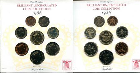 Набор монет Великобритании 1986 год в буклете