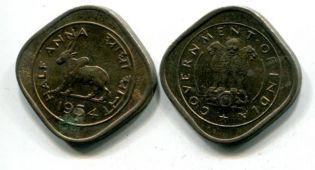 1/2 анны корова Индия 1954 год