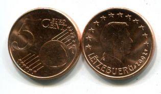 5 евроцентов Люксембург 2002 год