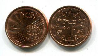 2 евроцента Португалия 2002 год