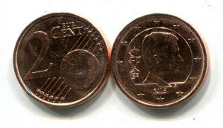 2 евроцента Бельгия 2015 год