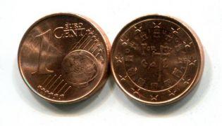 1 евроцент Португалия 2002 год