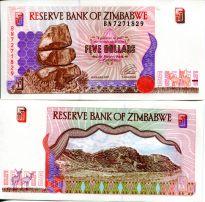 5 долларов Зимбабве 1997 год