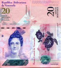 20 боливар Венесуэла 2014 год