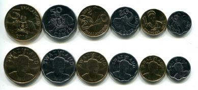 Набор монет Свазиленда 2015 год