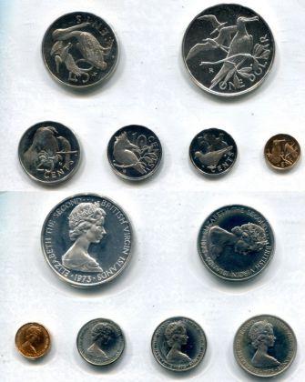Набор монет Виргинских островов 1974 год