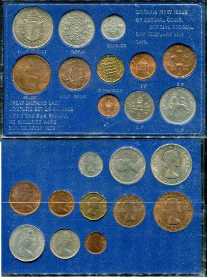 Набор монет Великобритании 1971 год