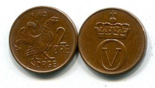 2 эре Норвегия 1972 год