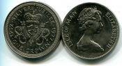 1 крона серебряный юбилей Мэн 1977 год