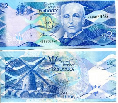 2 доллара Барбадос 2013 год