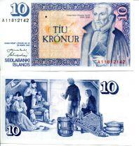 10 крон Исландия 1981 год