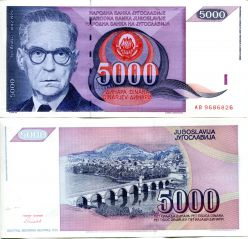 5000 динар Югославия 1991 год