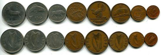 Набор монет Ирландии