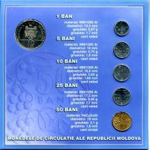 Набор монет Молдовы в буклете 2003-05 год