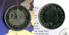 Великобритания 5 фунтов миллениум 1999 год