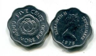 5 центов FAO Сейшельские острова 1975 год