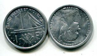 1 франк Сент-Пьер и Микелон 1948 год