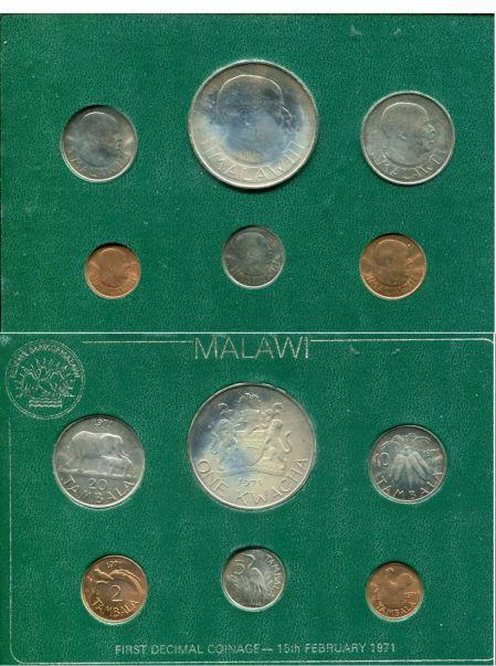 Набор монет Малави 1971 год