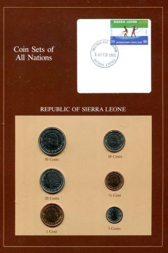 Набор монет Сьерра-Леоне 1980-1984 год