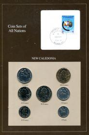 Набор монет Новой Каледонии 1983-1987 год