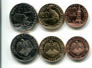 Набор монет Южного Судана 2015 год животные