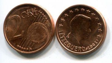 2 евроцента Люксембург 2002 год