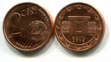 2 евроцента Мальта 2008 год