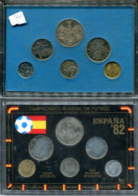 Набор монет Испании футбол 1982 год