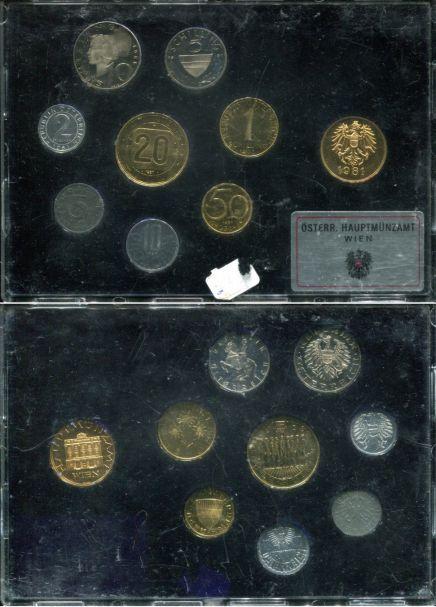 Набор монет Австрии 1981 год