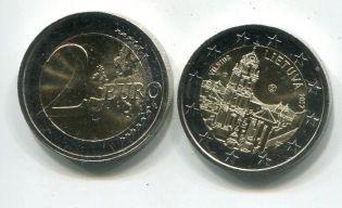 2 евро Вильнюс Литва 2017 год