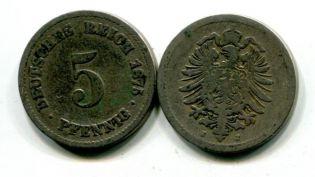 5 пфеннингов орёл Германия