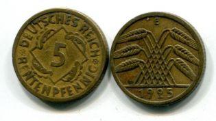 5 пфеннингов колосья Германия