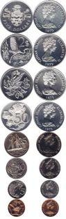 Набор монет Каймановых островов 3 серебряных