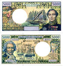 5000 франков Французские Тихоокеанские Территории 1996 год