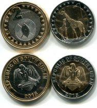 Набор монет Южного Судана 2015 год